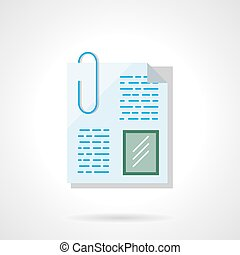 plat, kleur, vector, paperclip, bestand, pictogram