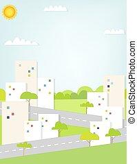 plat, landscape, stedelijke