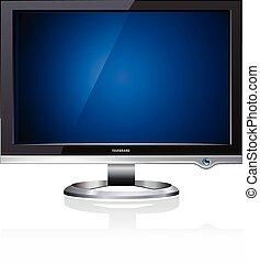 plat, lcd, computermonitor, display