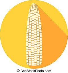 plat, maïs, icône