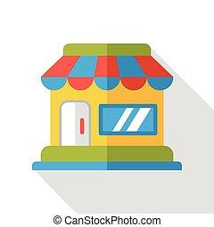 plat, magasin, icône
