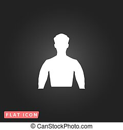 plat, man, silhouette, pictogram