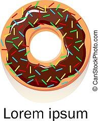 plat, manger, malsain, restaurant, logotype., menu, concept., illustration, élément, beignet, vecteur, conception, régime, habitudes, nourriture., ou, illustration.