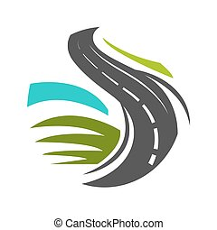 plat, marquer, éléments, style, logotype, traditionnel, ...