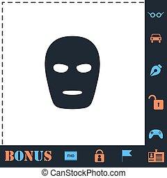 plat, masque, icône