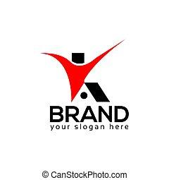 plat, mensen, woning, logo, mal, design.