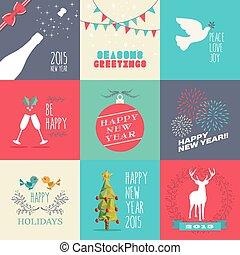 plat, mettez stylique, année, 2015, nouveau