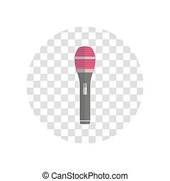 plat, microphone, conception, isolé