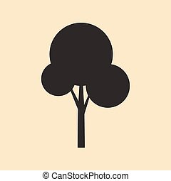 plat, mobile, arbre, application, noir, blanc