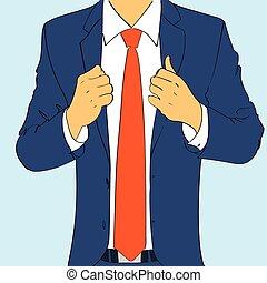 plat, mode, business, conception, usure, complet, cravate, ...