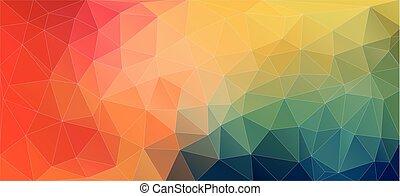 plat, moderne, driehoek, shapes., achtergrond, geometrisch