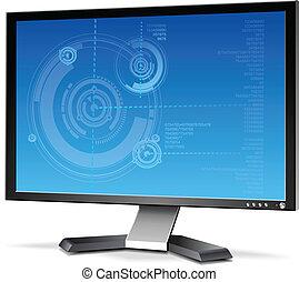 plat, monitor, lcd, computer, plasma, 3d