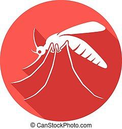 plat, moustique, icône