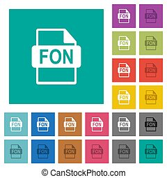 plat, multi, plein, gekleurde, iconen, formaat, bestand, fon