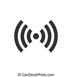 plat, netwerk, zakelijk, concept., wifi, vrijstaand, illustratie, meldingsbord, draadloos, achtergrond., vector, internet, witte , wi-fi, technologie, style., pictogram