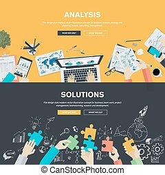 plat, ontwerp, concepten, voor, zakelijk
