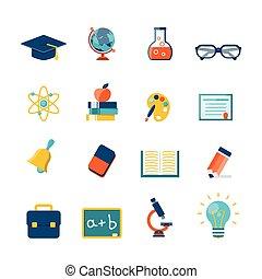 plat, opleiding, iconen