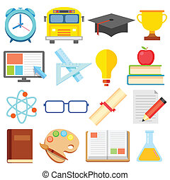 plat, opleiding, pictogram