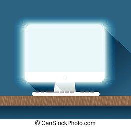 plat, opmaak, illustration., persoonlijk, moderne, computer, ontwerp
