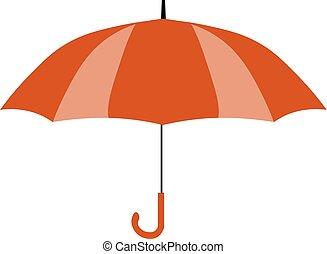 plat, parapluie, isolé, jaune, arrière-plan., vecteur, conception, illustration, icon., rouges, icône