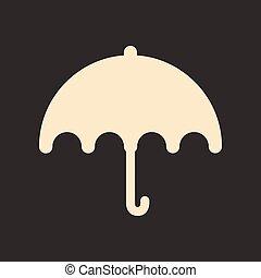 plat, parapluie, mobile, application, noir, blanc