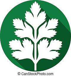 plat, (parsley, pictogram, peterselie, symbool