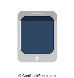 plat, pc tablette, conception, vector., icône, style.