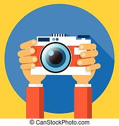 plat, photo, photographie, appareil photo, conception, ...
