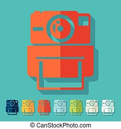 plat, photocamera, design:, vieux