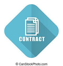 plat, pictogram, contracteren