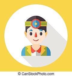 plat, pictogram, karakter, arts, beroep