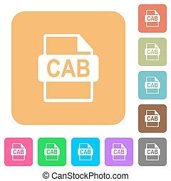 plat, plein, afgerond, iconen, formaat, bestand, taxi