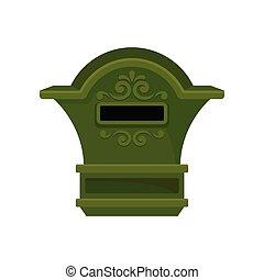 plat, postal, box., récipient, newspapers., vendange, métal...