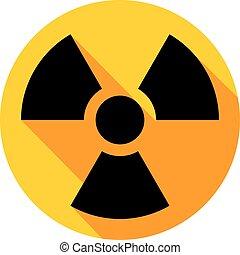 plat, radiation, icône