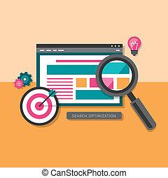 plat, recherche, optimization, conception