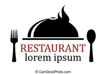 plat, restaurant, icône