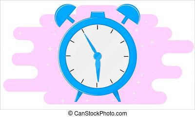 plat, reveil, conception, horloge