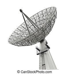 plat, satellite, antenne