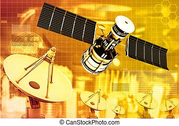 plat satellite, antennes