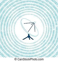 plat, satellite, numérique