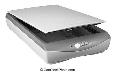 plat, scanner, lit
