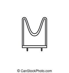 plat, schets, illustratie, vector, ontwerp, weerstand, pictogram