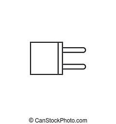 plat, schets, oscillator, illustratie, vector, ontwerp, pictogram