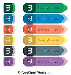 plat, Set, extra, modules, meldingsbord, psd, kleurrijke,...