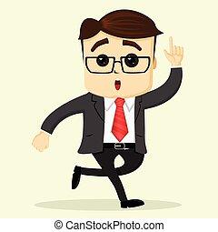 plat, sien, illustration., vecteur, homme affaires, grattement, head.