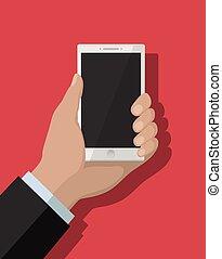 plat, smartphone, concept