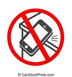 plat, smartphone, sonner, mobile, apps, vibrer, sites web, téléphone, icon., ou, icône