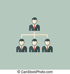 plat, social, réseau, icône