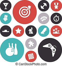 plat, sport, conception, loisir, icônes