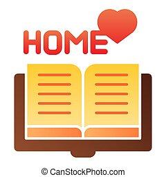 plat, stijl, 10., iconen, kleur, app., favoriet, eps, style., helling, boek, web, modieus, thuis, icon., lezende , ontwerp, ontworpen